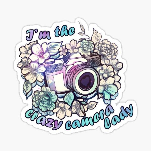 I'm the crazy camera lady Sticker
