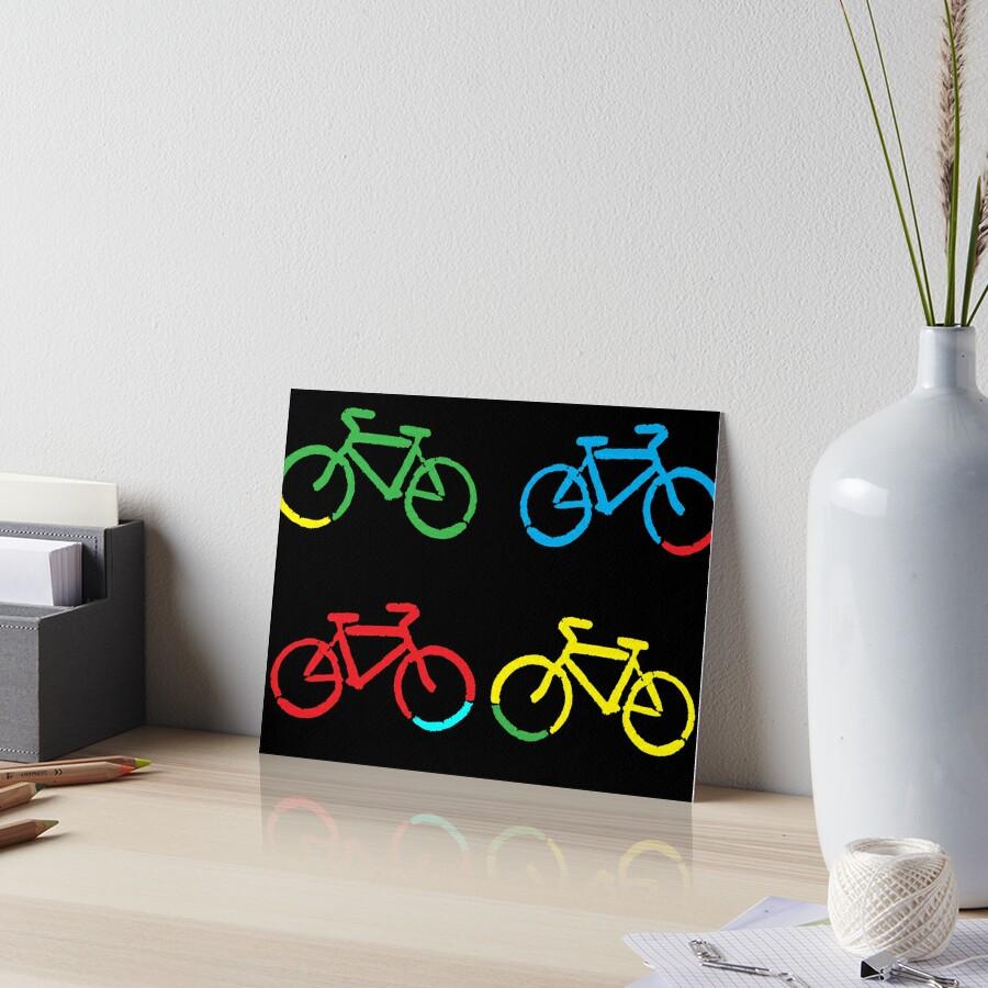 Bike Race Art Board Print