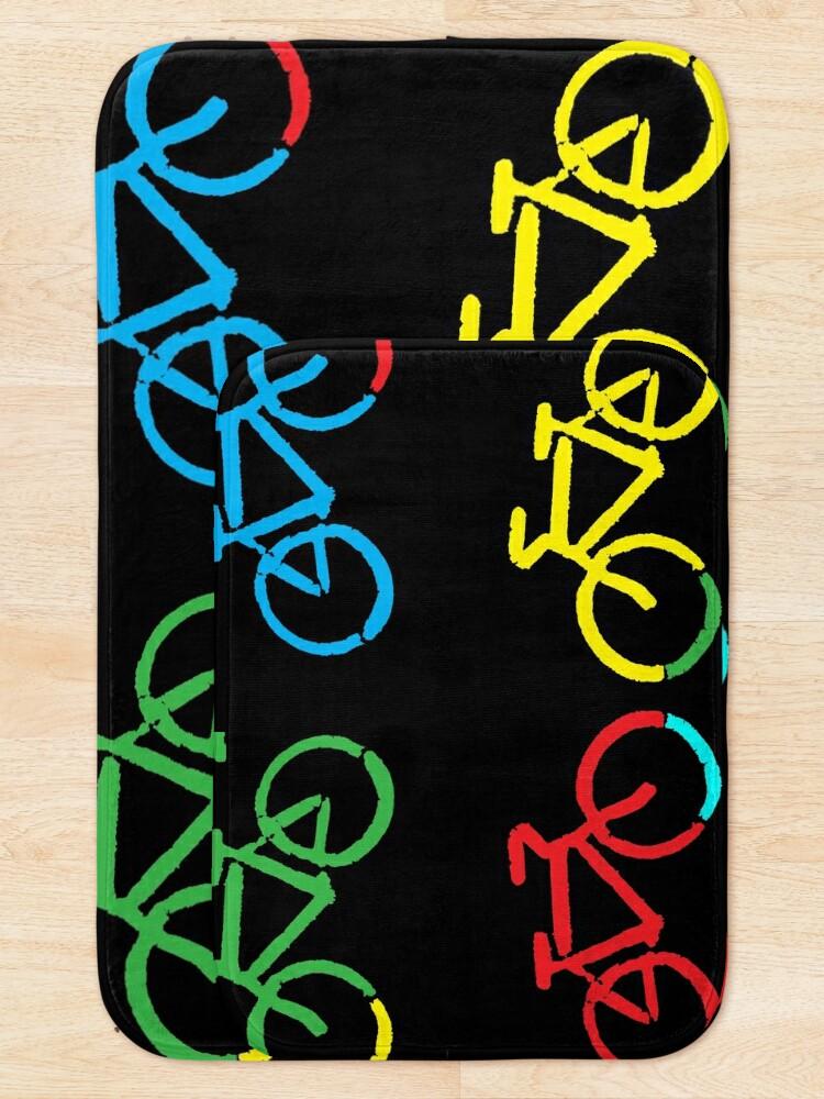 Alternate view of Bike Race Bath Mat