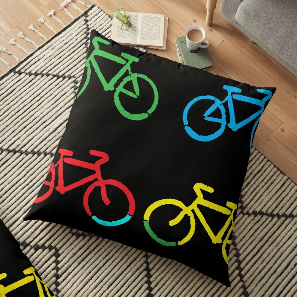 Bike Race Floor Pillow