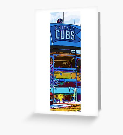 chicago cubs bleachers in winter Greeting Card