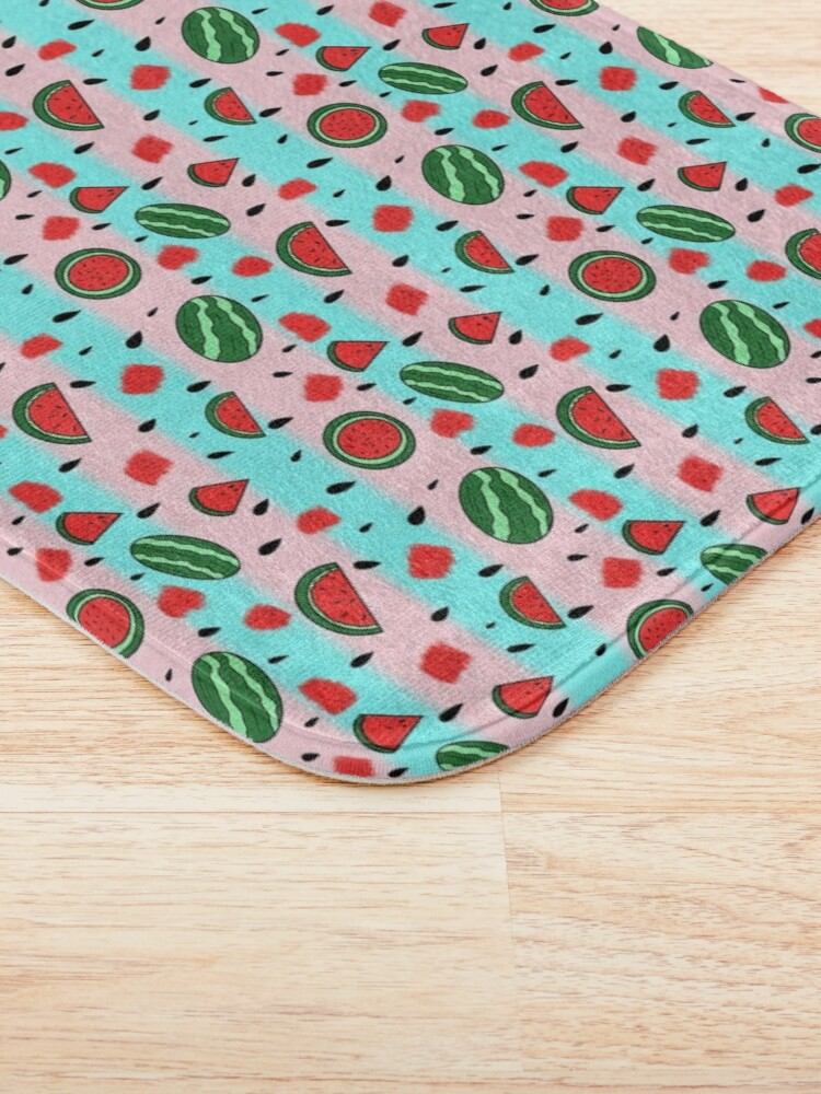 Alternate view of half a dozen melons Bath Mat