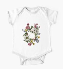 Rabbit in Flowers One Piece - Short Sleeve