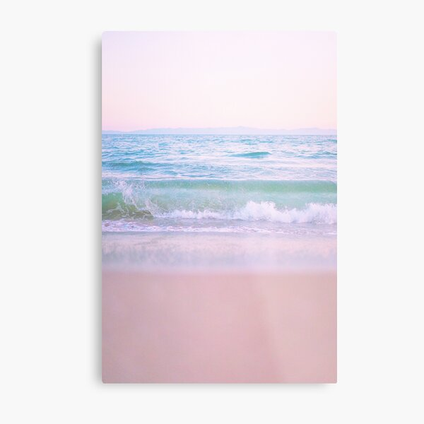 Glassy Pastel Wave Metal Print