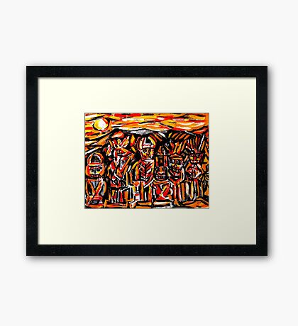 chief crow & the ancient masked indians...a portrait Framed Print