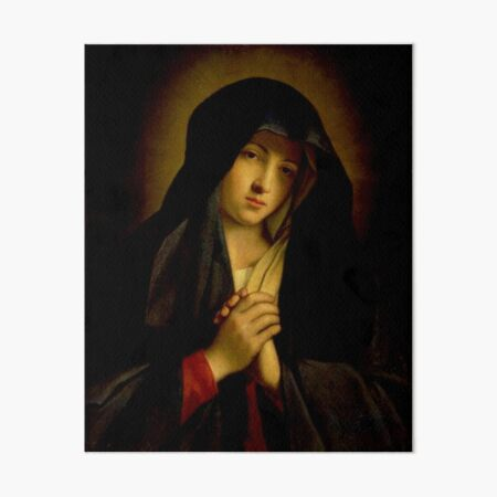 Mary, mother of Jesus - The Madonna in Sorrow Art Board Print