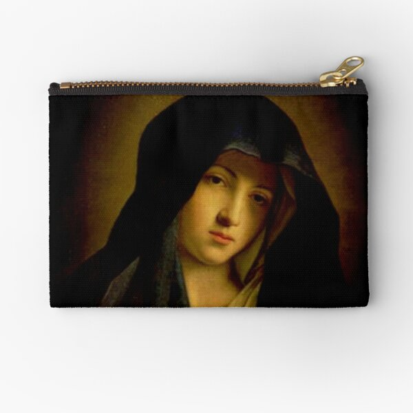 Mary, mother of Jesus - The Madonna in Sorrow Zipper Pouch