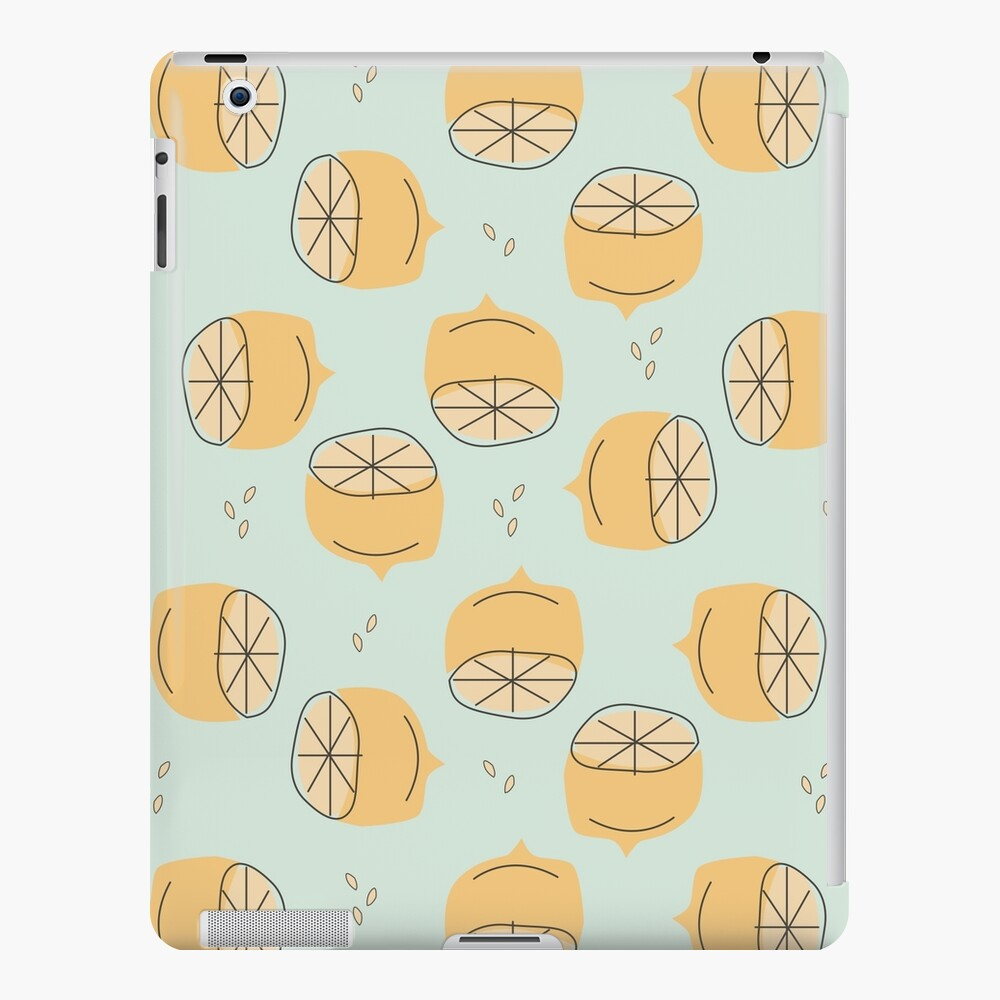 Lemon Pattern Illustration iPad Case & Skin