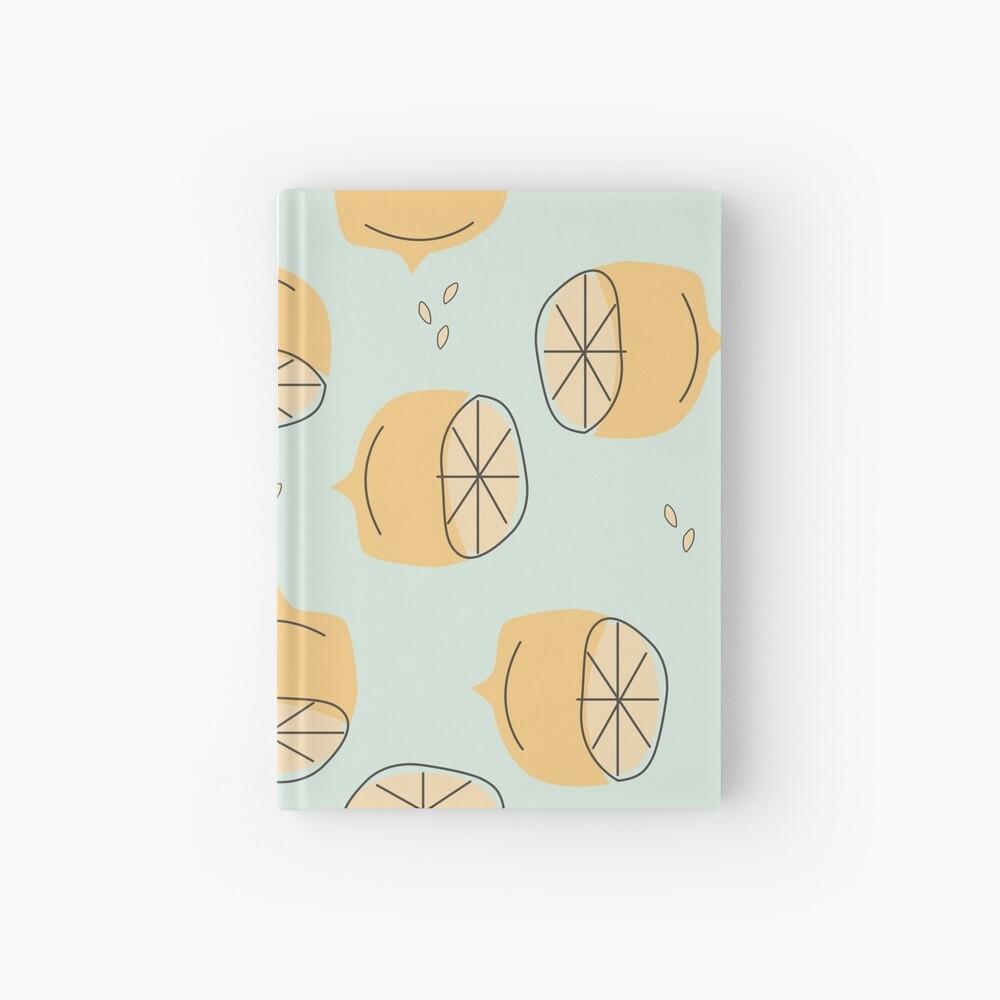 Lemon Pattern Illustration Hardcover Journal