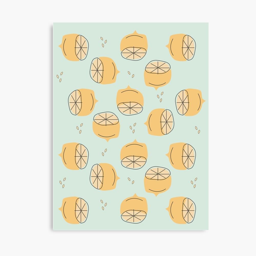 Lemon Pattern Illustration Canvas Print
