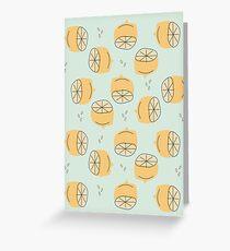 Tarjeta de felicitación Ilustración de patrón de limón