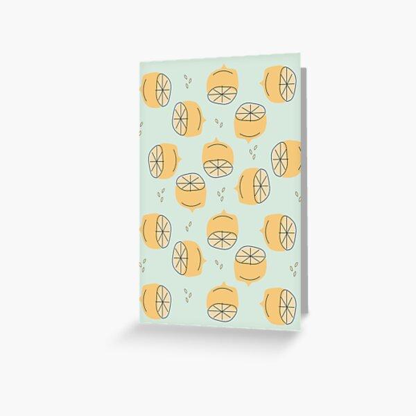 Lemon Pattern Illustration Greeting Card