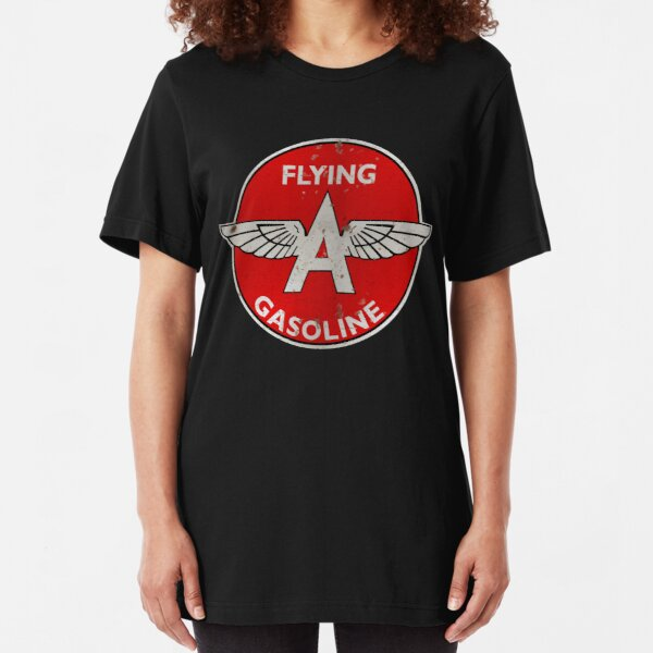 Flying A Gasoline rusted version Slim Fit T-Shirt