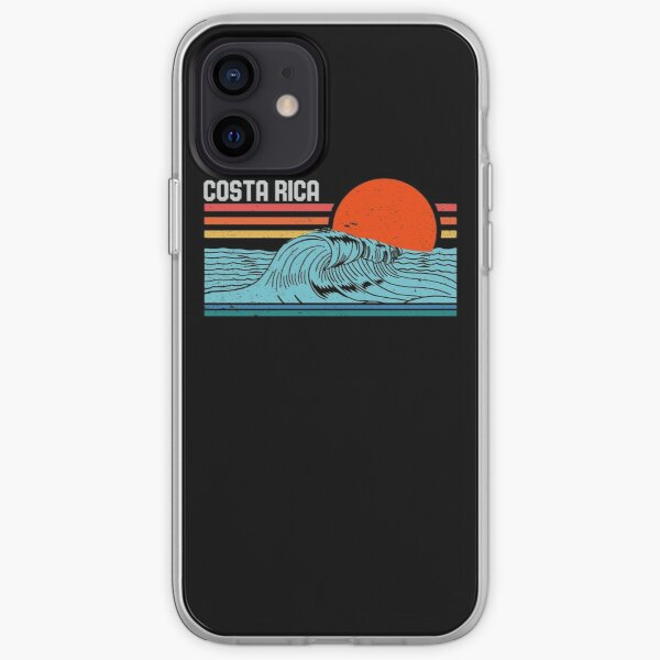 Vintage Costa Rica Beach Surfing Retro Surf 70s 80s Wave iPhone Soft Case