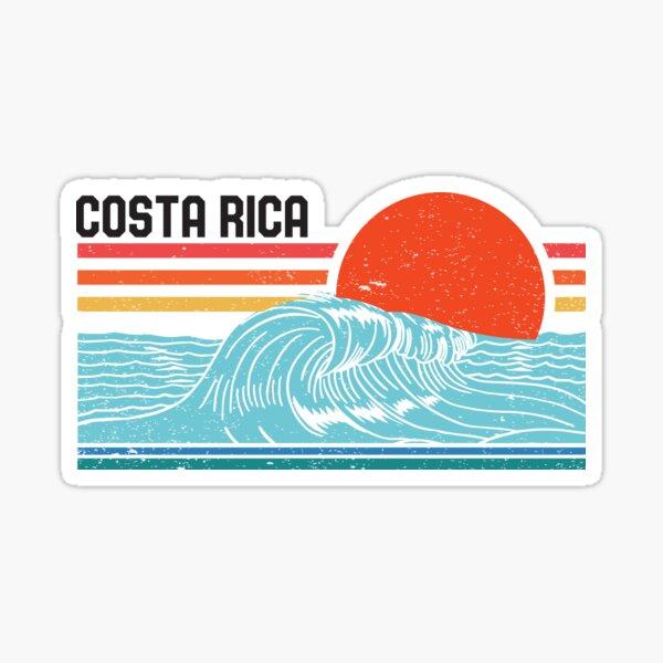Costa Rica Vintage Surf Surf Retro Surf 70s 80s Wave Pegatina