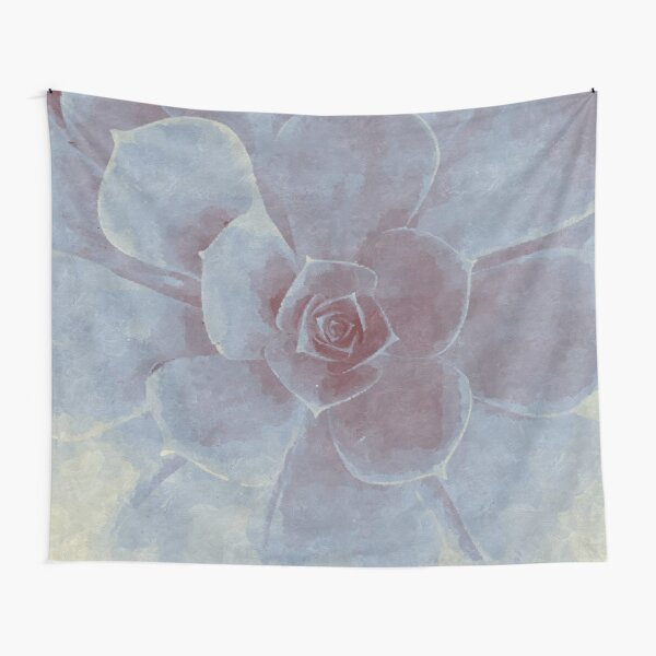 Watercolor Succulent Tapestry