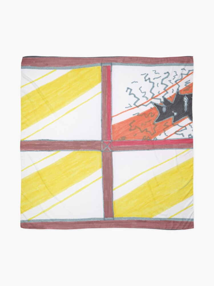 Alternate view of Merch #20 -- Wrecked Window - Pane Pain Scarf
