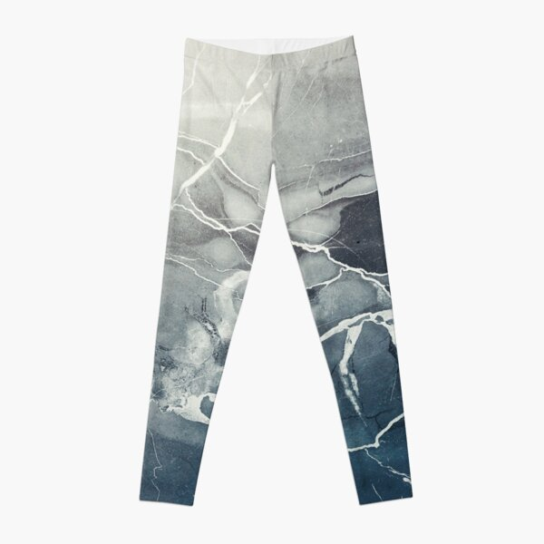 Blue Sea Marble Leggings