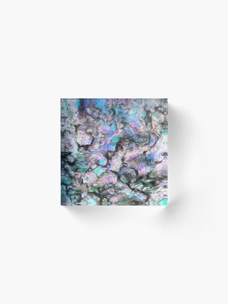 Alternative Ansicht von Meerjungfrau Textur 1 Acrylblock