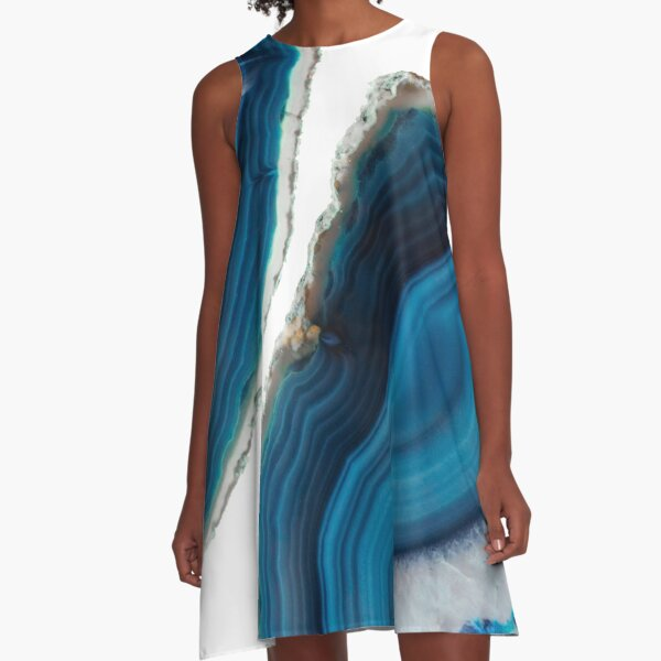 Blue Agate A-Line Dress