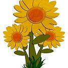 Cut Paper Sunflower by SDCarlon