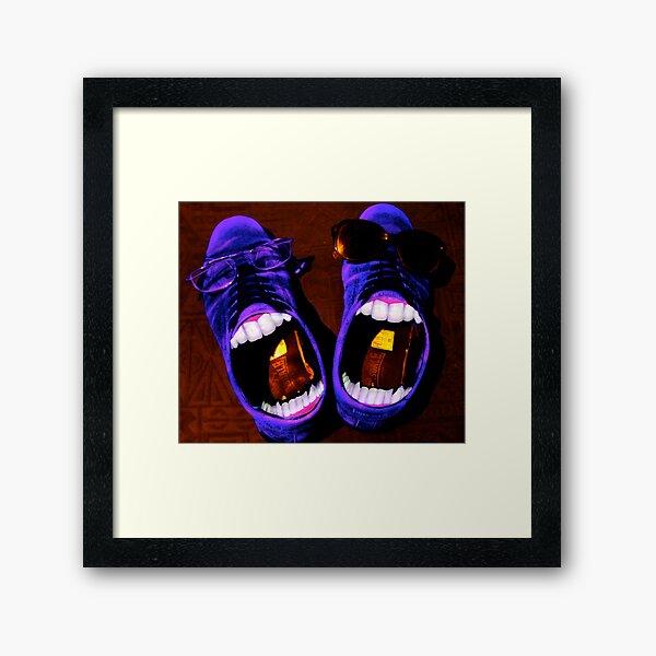 Blue Suede Shoes Framed Art Print