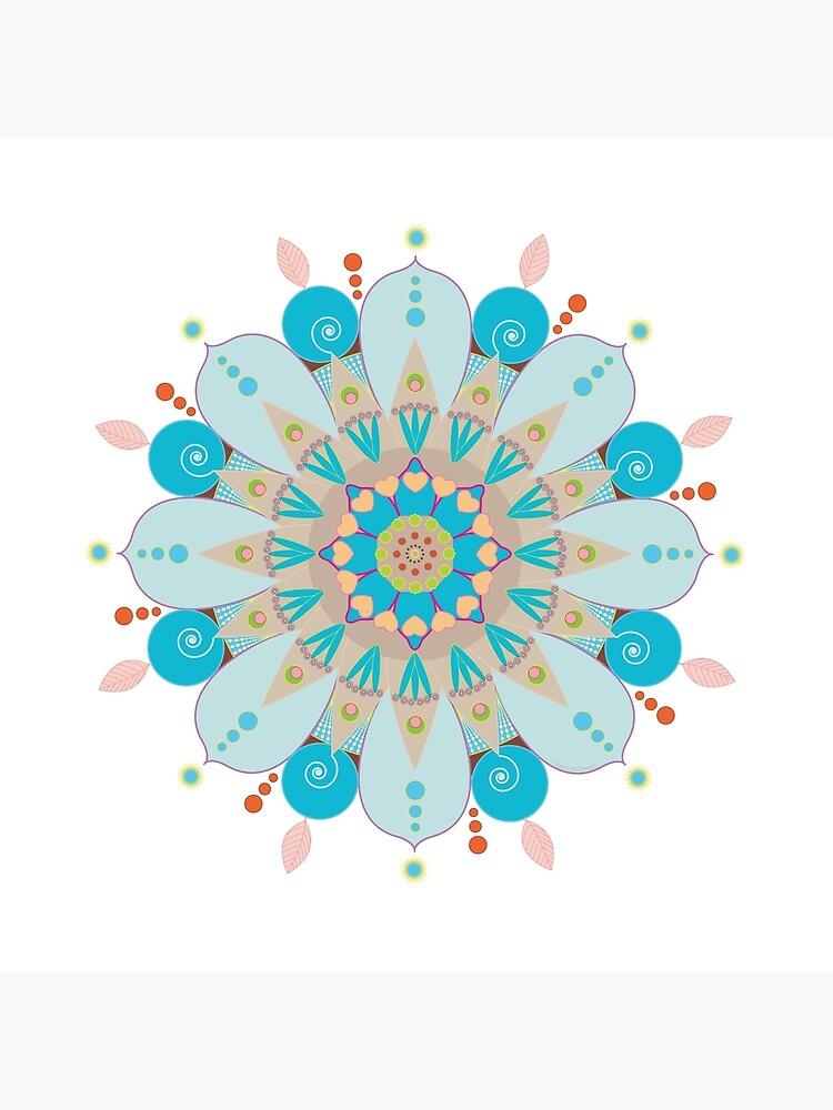 "Mandala fleur, ""Mer & sable"" by RosaLeeDesign"