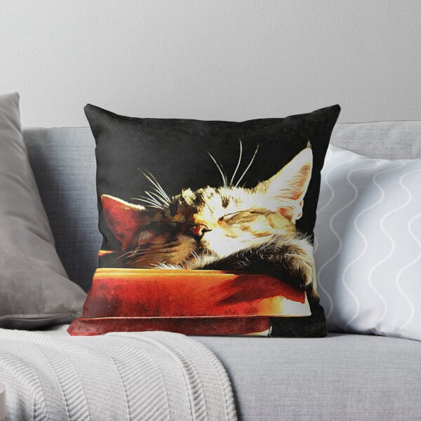 Wake Me When It Is Dinner Time Throw Pillow