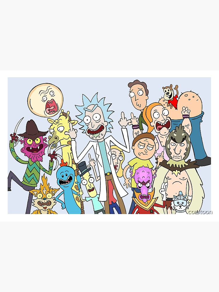 A Rick and Morty Collage by cowtoon