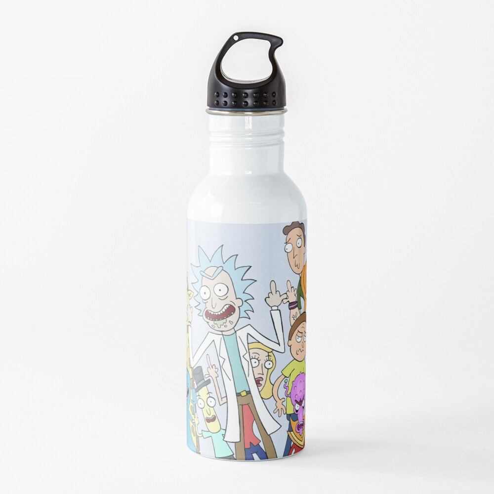 A Rick and Morty Collage Water Bottle