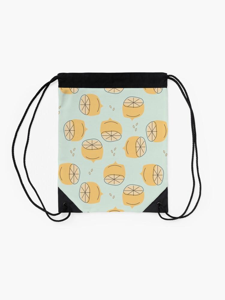 Alternate view of Lemon Pattern Illustration Drawstring Bag