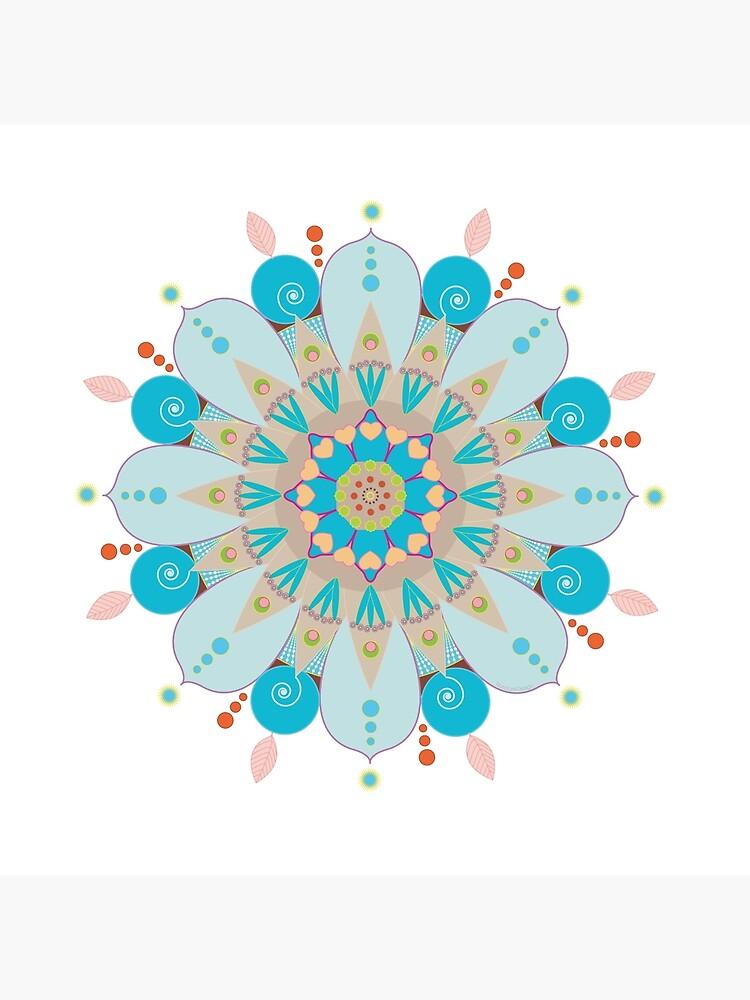 "«Mandala fleur, ""Mer & sable""» par RosaLeeDesign"