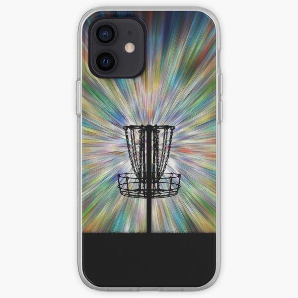Disc Golf Basket Silhouette iPhone Soft Case