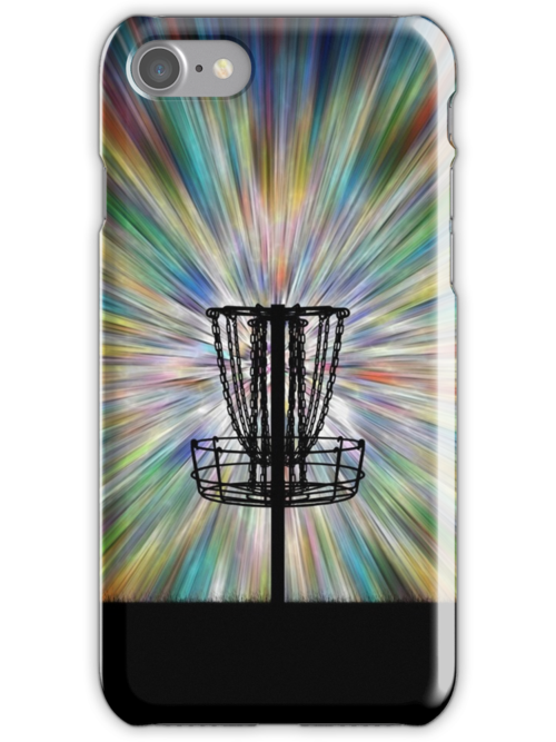 Disc Golf Basket Silhouette by Phil Perkins