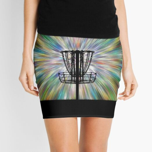 Disc Golf Basket Silhouette Mini Skirt