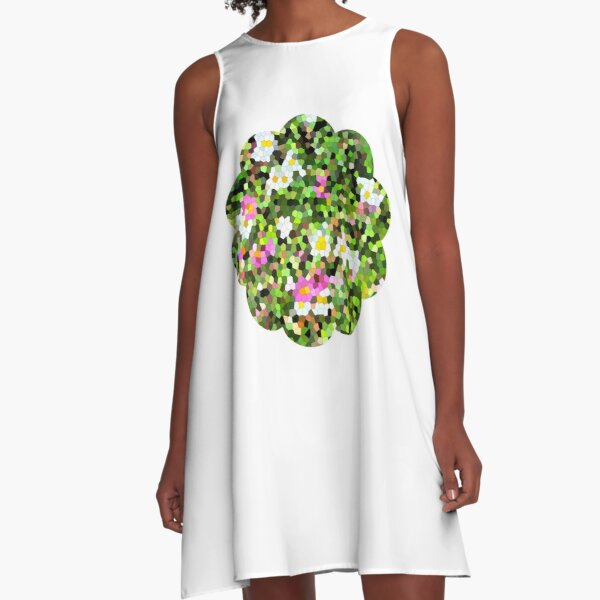 Fleur vitrail #1 Robe trapèze