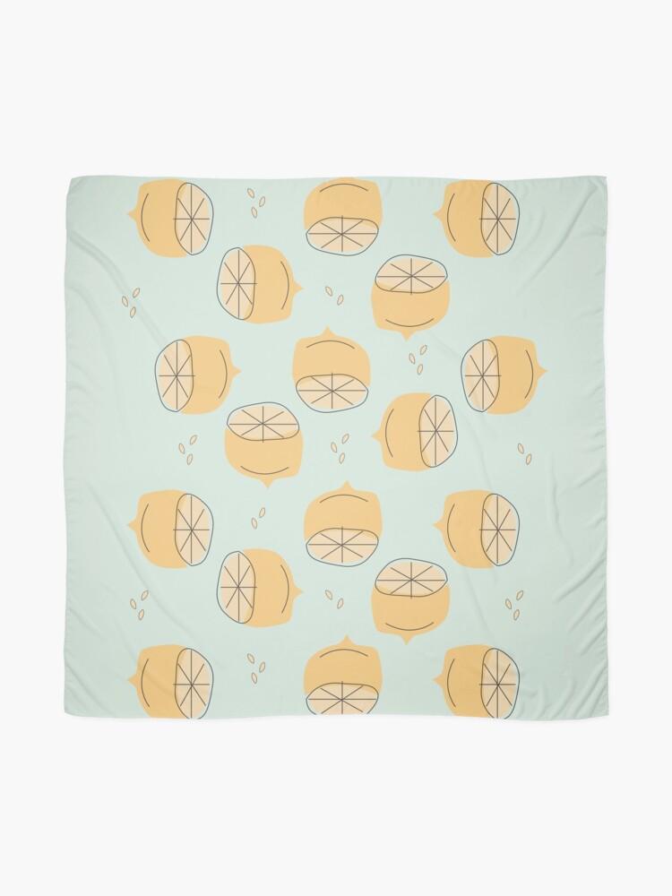 Alternate view of Lemon Pattern Illustration Scarf