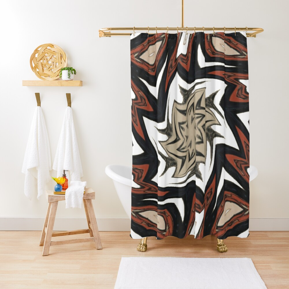 #Art, #pattern, #decoration, #design, illustration, graffiti, abstract, scribble, painting, tile Shower Curtain