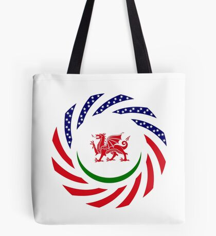 Welsh American Multinational Patriot Flag Series Tote Bag