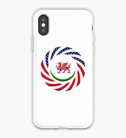 Welsh American Multinational Patriot Flag Series iPhone Case