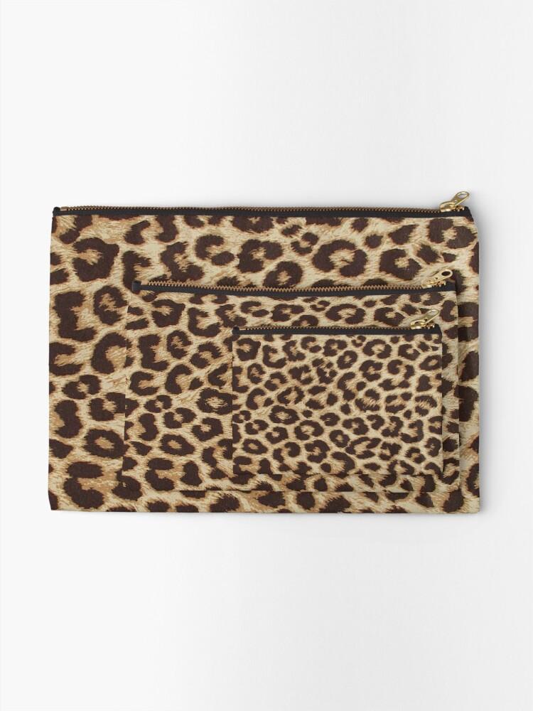 Alternate view of Leopard Print Zipper Pouch