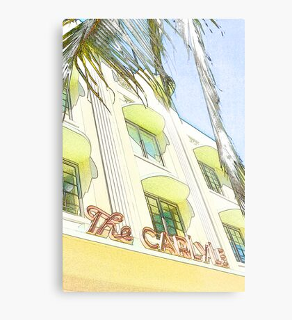 the carlyle hotel, south beach, florida Metal Print
