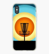 Vinilo o funda para iPhone Cesta de golf colorida del disco