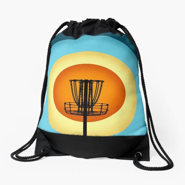 Colorful Disc Golf Basket Drawstring Bag