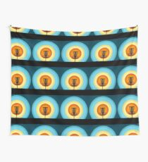 Colorful Disc Golf Basket Wall Tapestry