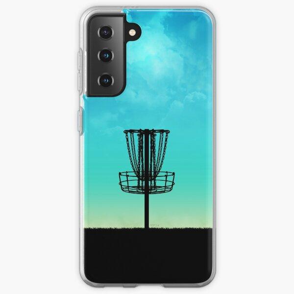 Disc Golf Basket Silhouette Samsung Galaxy Soft Case