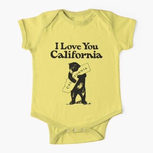 I Love You California Bear  Short Sleeve Baby One-Piece