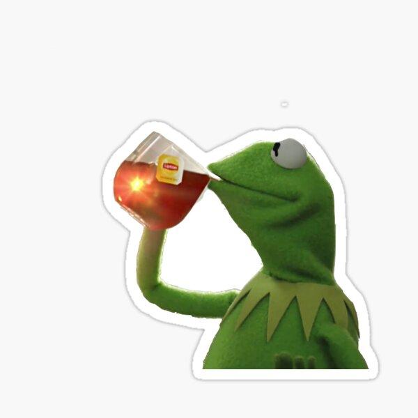Kermit Sips Tea Sticker
