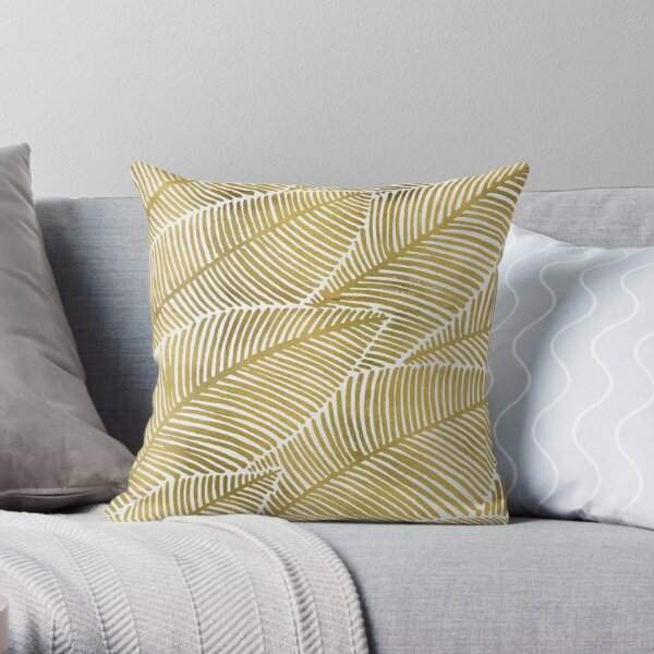 Tropical Gold Throw Pillow