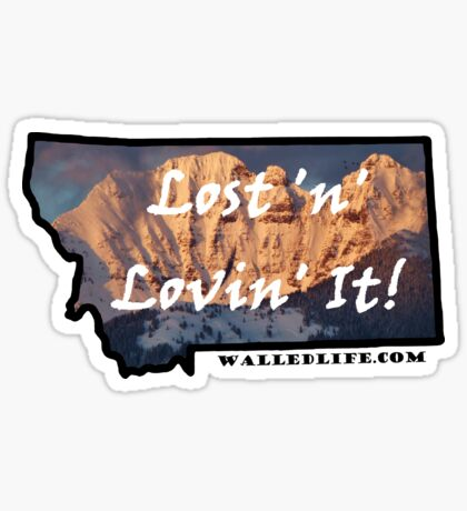 Montana Mission Mountains Sticker